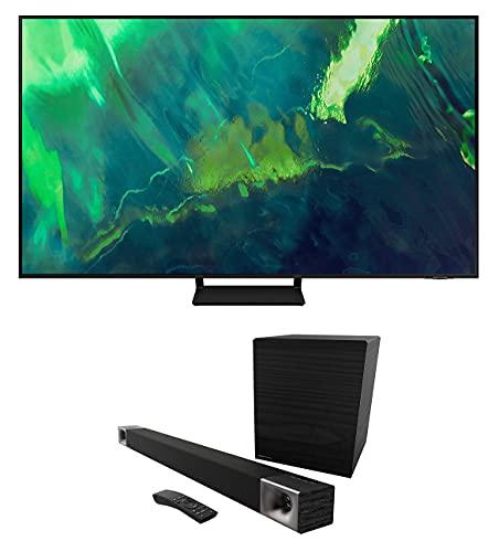 Samsung QN65Q70AA 65' Class UHD High Dynamic Range QLED 4K Smart TV with a Klipsch CINEMA-600-SET True...