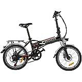 ANCHEER Bicicleta eléctrica Plegable, Bicicleta eléctrica de 20/26 Pulgadas, con Batería de Litio de 36V 8Ah extraíble y 21 Velocidades (AE4 Negro)