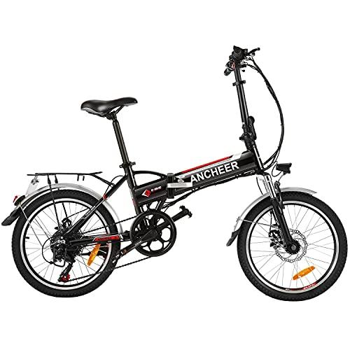 ANCHEER Bicicleta eléctrica Plegable, Bicicleta...
