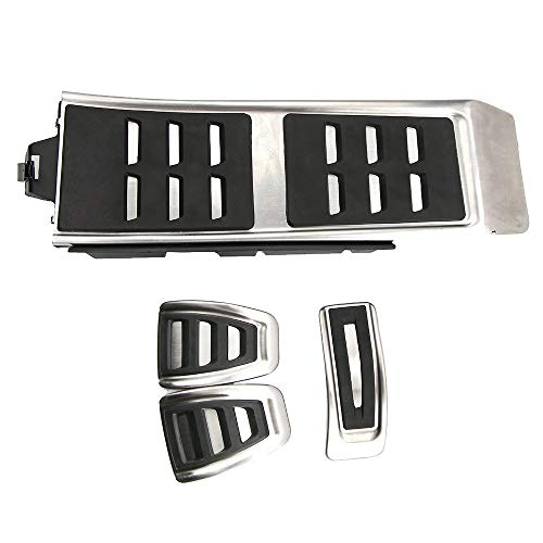 Sin taladro pedal de freno de gas de acero inoxidable antideslizante acelerador freno cubierta para A4 S4 A5 S5 Q5 A6 S6 A7 S7 2012-2017 (MT)