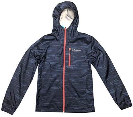 Columbia Mens Morning View Packable Hooded Rain/Wind Full Zip Jacket