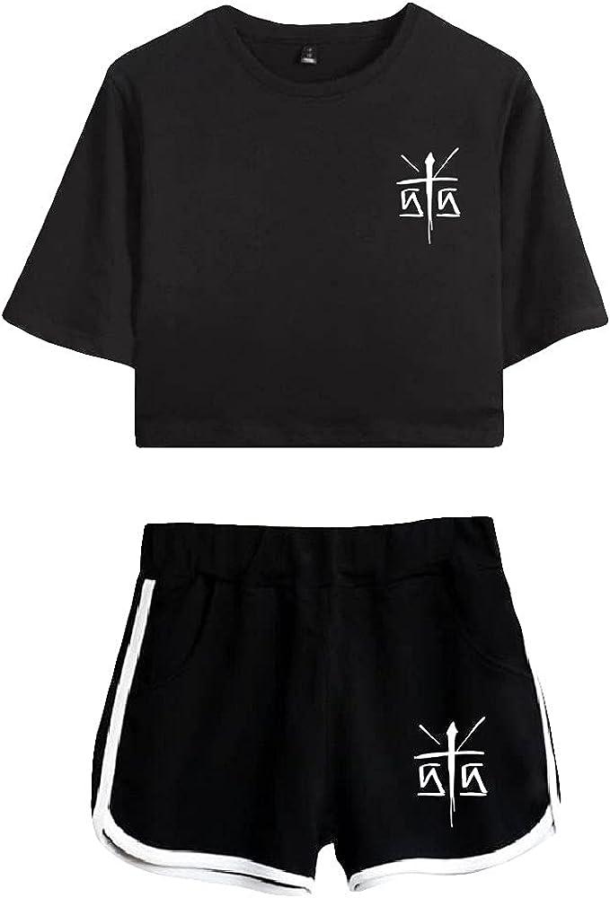 Tydres Gera MX 2 Piece Sets Casual Two Piece Suit Woman Girls Short & Tops Suit Singer Short Sleeve (BB-KB03586,L)