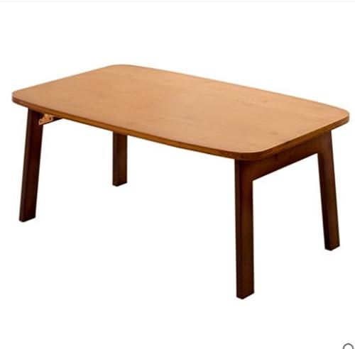NAN Bambou, Table en Bois Massif, Petite Table Basse, Table Pliante, Tatami, Table à Manger, ménage