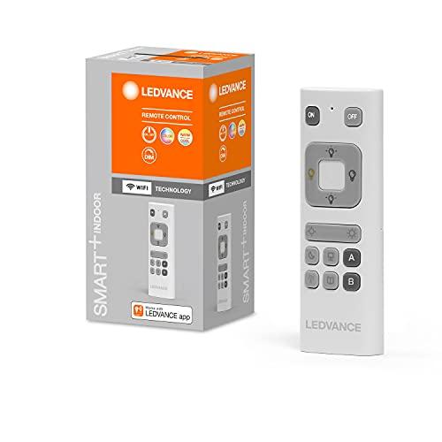 LEDVANCE Smart Fernbedienung in weiß, WiFi remote control zur Änderung der Farben, An-/Auschalten und Dimmen von Ledvance WiFi Produkten, 32g, 41mmx120mm, Batterie betrieben 2xAAA, RGBW Farbsteuerung