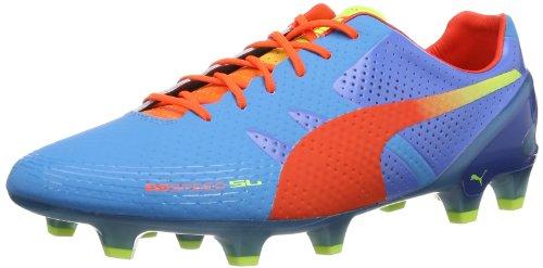 Puma Herren evoSPEED 1.2 SL FG Fußballschuhe, Blau (sharks blue-fluro peach-fluo yellow 01), 40 EU