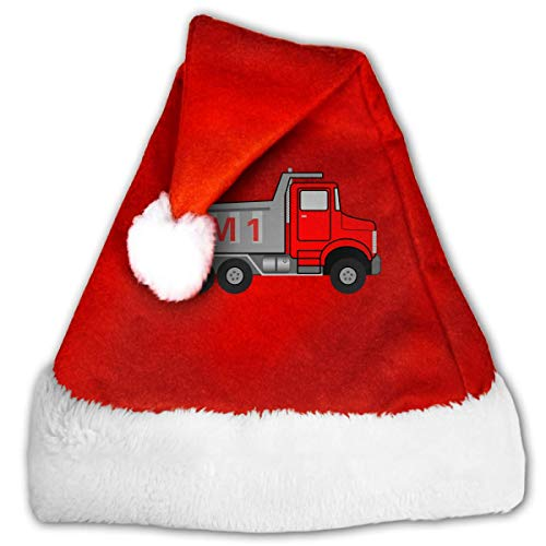 LCYYDECO Sombrero de Navidad, camión volquete Soy Gorras de calcetín de año Nuevo para celebración y recreación, Sombreros de Terciopelo Dorado de Papá Noel