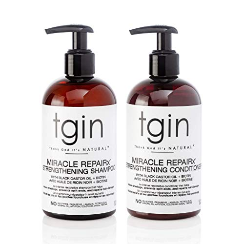 tgin Miracle RepaiRx Strengthening Shampoo and Conditioner Duo For Natural Hair - Dry Hair - Curly Hair