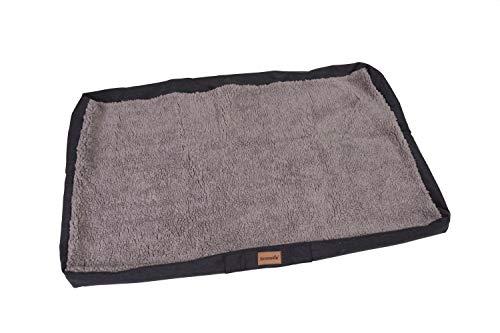 brunolie Wechselbezug Ersatzbezug für Balu,waschbar, hygienisch und rutschfest, Grau, Größe L