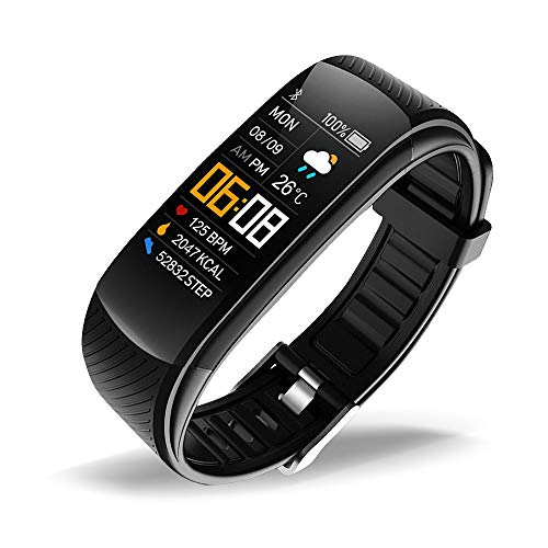 oriver C5 Fitness Tracker, Activity Tracker Watch with Heart Rate Monitor, Pedometer Sleep Monitor Watch for Kids Women and Men, Black