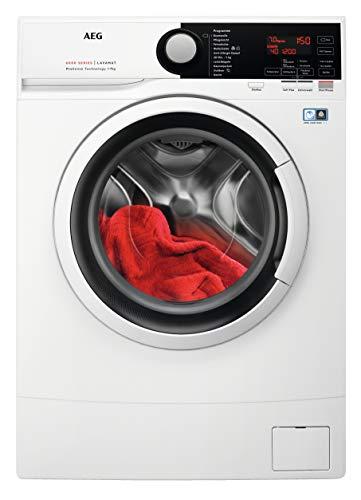 AEG L6SB70470 Kompakte Waschmaschine mit nur 490 mm Tiefe / 7,0 kg / Mengenautomatik / Kindersicherung / Allergikerfreundlich / Wasserstopp / 1400 U/min