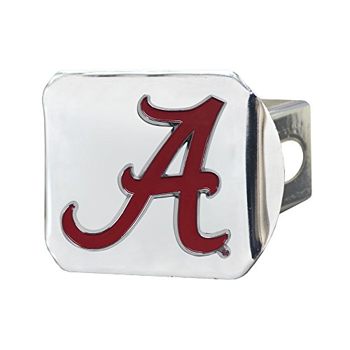 SLS Alabama Crimson Tide 3D Color Emblem Chrome Hitch Cover