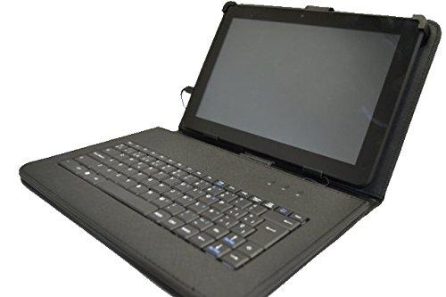 """Funda con Teclado QWERTY en español (Incluye Letra Ñ) para Tablet Chuwi HI10 10.1"""" - Negro"""
