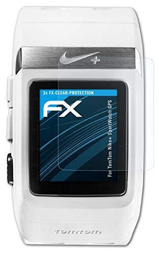 atFoliX Film Protection d'écran Compatible avec Tomtom Nike+ SportWatch GPS Protecteur d'écran, Ultra-Clair FX Écran Protecteur (3X)