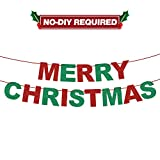 Merry Christmas Decorations Bunting Banner Welcome Christmas Sign Perfect for Home Office Navidad Christmas Holiday Party Decoration.