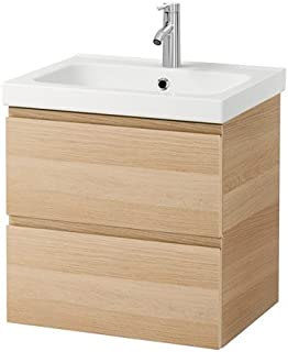IKEA Sink Cabinet with 2 Drawers, White Stained Oak White Stained Oak Effect 23 5/8x19 1/4x25 1/4