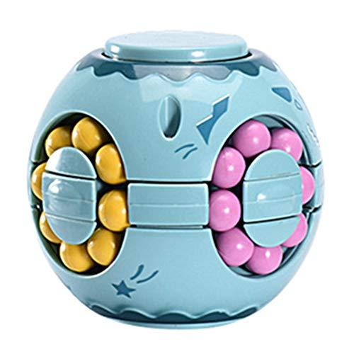 Intelligence Fingertip giocattolo rotante per bambini e adulti in plastica Cubo di magia giocattolo educativo Magic Bean blue