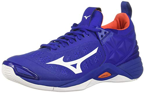 Mizuno Men's Wave Momentum Volleyball Shoe, royal-orange, 9.5 D US