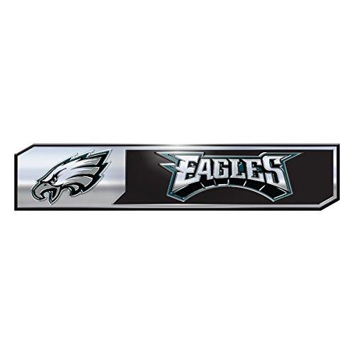 """FANMATS NFL - Philadelphia Eagles 2 Piece Heavy Duty Alumnium Truck Emblem Set, Teal, 1.75"""" x 8"""""""