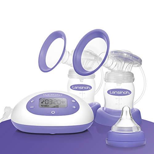 Sacaleches Eléctrico Doble 2 en 1 de Lansinoh. Extrae la leche materna de forma más eficaz, rápida y cómoda.