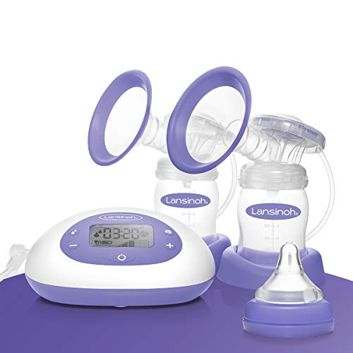 Lansinoh Breast Pump 2-in-1 Double Electric Breast Pump Breastfeeding Milk Breastpump