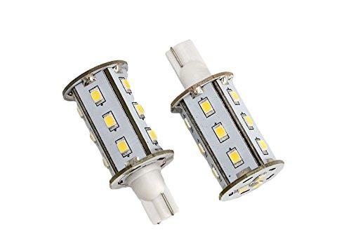 GoldenGadgets 921 194 RV LED Light Bulb - 2 Pack - 3 Watt - 270 Lumen - Warm White 3000K