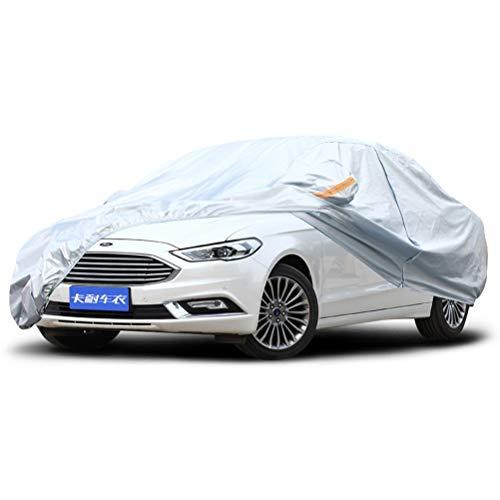 Guajian (Pour Ford) Couverture de voiture extérieure argent Oxford Tissu Quatre saisons Universal Car Clothing chezhao (Couleur : Taurus)
