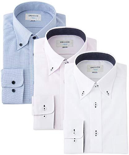 [オリヒカ] ワイシャツ 形態安定3枚セット 抗菌防臭機能付き 長袖オールシーズン WEB限定 メンズ Aセット M