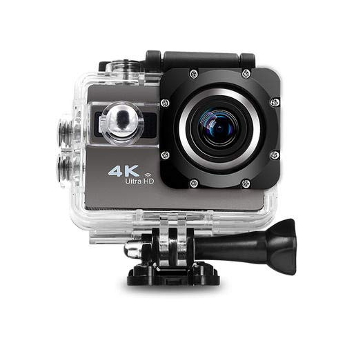 Underwater Action Camera 4K WiFi Waterproof Sports Diving Cam DV Camcorder 16MP 170 Degree Wide-Angle Len with Sensor 2 Rechargeable Batteries/Floating Hand Grip and Accessories Kit