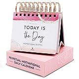 RYVE Motivational Calendar - Daily Flip Calendar with Motivational Quotes - Inspirational Calendar, Inspirational Quotes, Inspirational Desk Decor for Women, Inspirational Office Decor for Women Desk