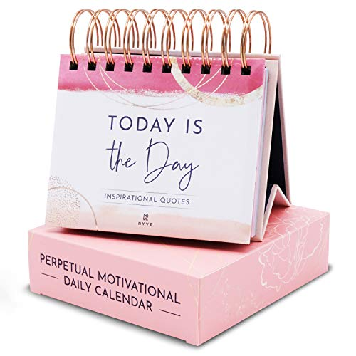 RYVE Motivational Calendar - Daily Flip Calendar with Inspirational Quotes - Motivational Gifts for...