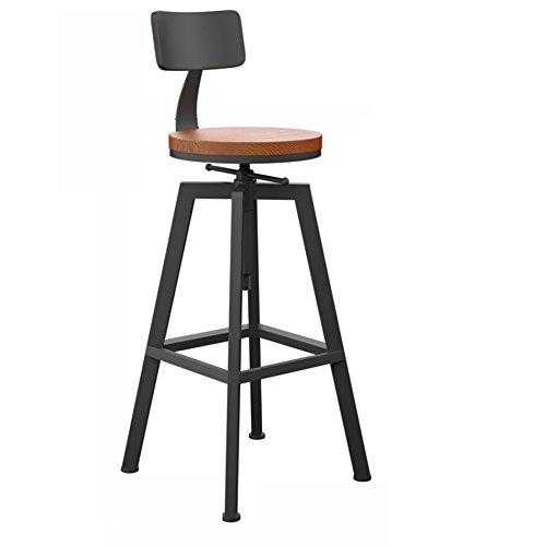Voor gebruik binnenshuis barkruk, moderne minimalistische draaikruk van smeedijzer, barkruk met hoge snelheid, afmetingen: 65 x 33 x 33 cm (kan met 20 cm) stoel verhogen.