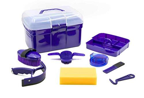 AMKA Putzbox für Kinder Putzkasten - Putzkoffer gefüllt 7 Teile (lila)