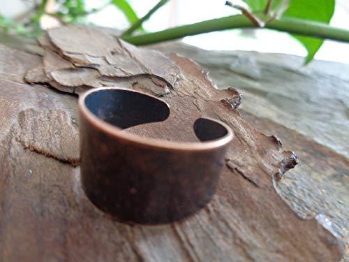 ✿ BREITER BANDRING KUPFER RING VINTAGE ✿ bohemian Ring verstellbar