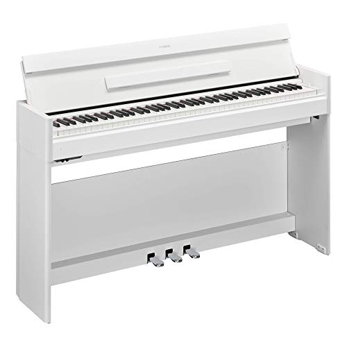 Great Deal! Yamaha YDPS54WH Arius Series Slim Digital Console Piano, Satin White