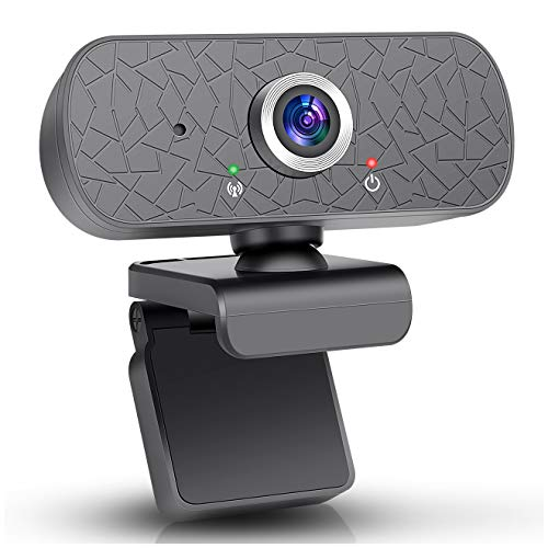 Amtete Webcam 1080p Webcam with Microphone Automatic Light Correction Plug and Play for Windows Mac OS commonly Used in Video Communication Conference Games Online Courses