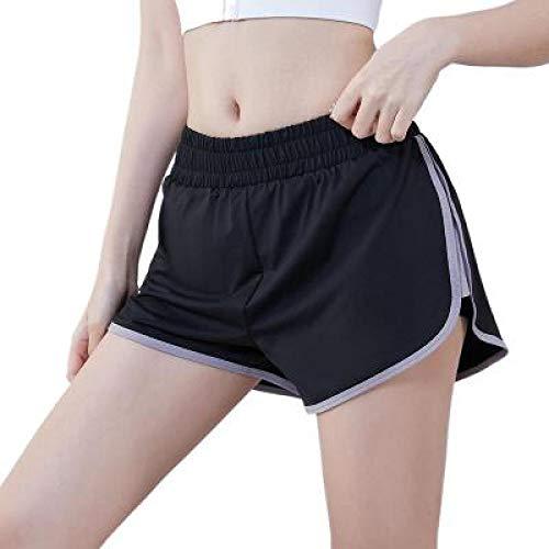 Pantalones Cortos para Mujer Primavera y Verano Fitness al Aire Libre Pantalones Cortos Deportivos para Correr Pantalones Cortos Casuales cómodos Informales Sueltos L