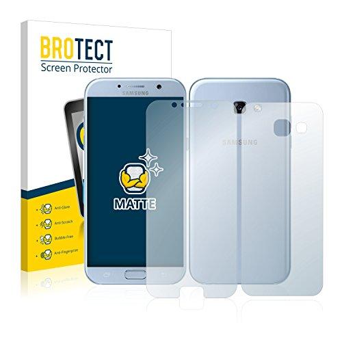 BROTECT 2X Entspiegelungs-Schutzfolie kompatibel mit Samsung Galaxy A5 2017 (Vorder + Rückseite) Matt, Anti-Reflex, Anti-Fingerprint