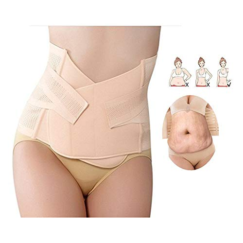 CellFAther® Postpartum Belly Waist Slim Shaper Support Girdle Pregnancy recovery abdomen After Delivery C Section Support Band Maternity Belts (Beige Color)