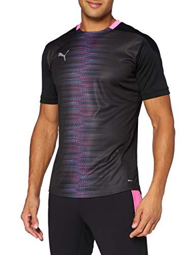 PUMA Herren ftblNXT Pro Tee T-Shirt, Black-Luminous Pink, XL