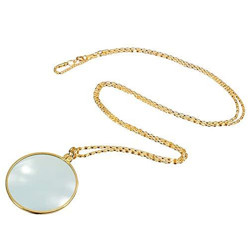 Collar de Lentes de Monocle de la Utilidad de Moda Coreana con Colgante de Lupa de la magnífera de 5X para Las Mujeres Regalos,7