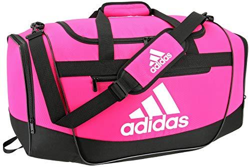 adidas Defender III - Bolsa de Viaje (tamaño Mediano), Color Rosa y Negro