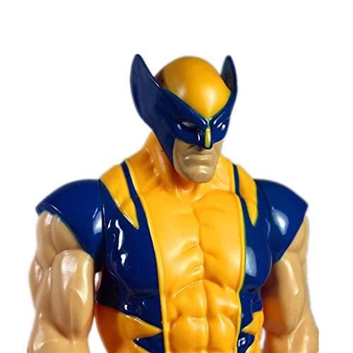 WIJJZY MSWDM Statua Ornamenti Decor Super Hero Avengers Action Figure Toy Captain America Iron Man Wolverine Raytheon Model Doll 12 30cm -b