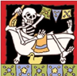 6x6 Tile Day of the Dead Bathtime