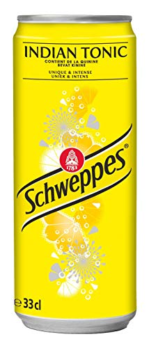 24 x Schweppes Indian Tonic (24 x 0,33 L Einweg-Dose) Kalorienarm