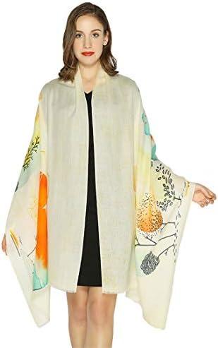 DANA XU 100 Pure Wool Fashion Pashmina Shawls and Wraps Scarfs Yellow04 product image