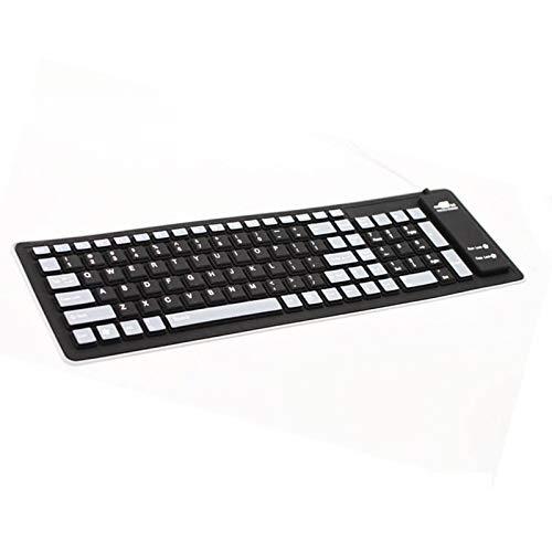 Ultradünne mechanische Tastatur Schöne kabelgebundene stummle Lampe mit verdrahteter Silikon und dünne weiche Tastatur, wasserdicht, faltbar, tragbar und rollbar.Geeignet für Büro, das auf Computer od