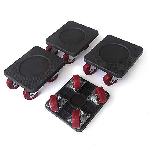 PULLEY Muebles Levantador con 4 Paquetes en Movimiento Sliders Muebles Pesados Rodillos Mover Herramientas máximo Arriba de 250KG / LB 551, 360 Grados giratoria de ratón (Negro) (Size : B)