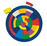 Goki- Puzzles de Madera Encaje Círculo, Multicolor (57849)