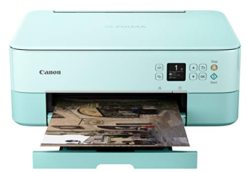 Canon TS5320 All In One Wireless Printer, Scanner, Copier with AirPrint, Green, Works with Alexa