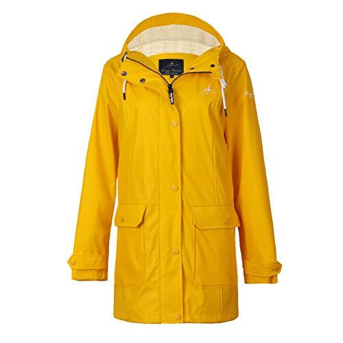 S.IKRR Dingy Weather regenjas voor dames, licht gevoerd, waterdicht, met capuchon, PU-parka-windbreaker